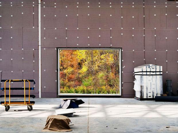 Immagine del cantiere del nuovo centro culturale Magazzino Italian Art