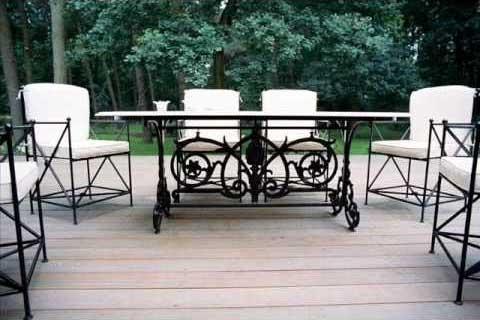 sedie giardino in ferro