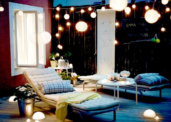 idee luci terrazzo