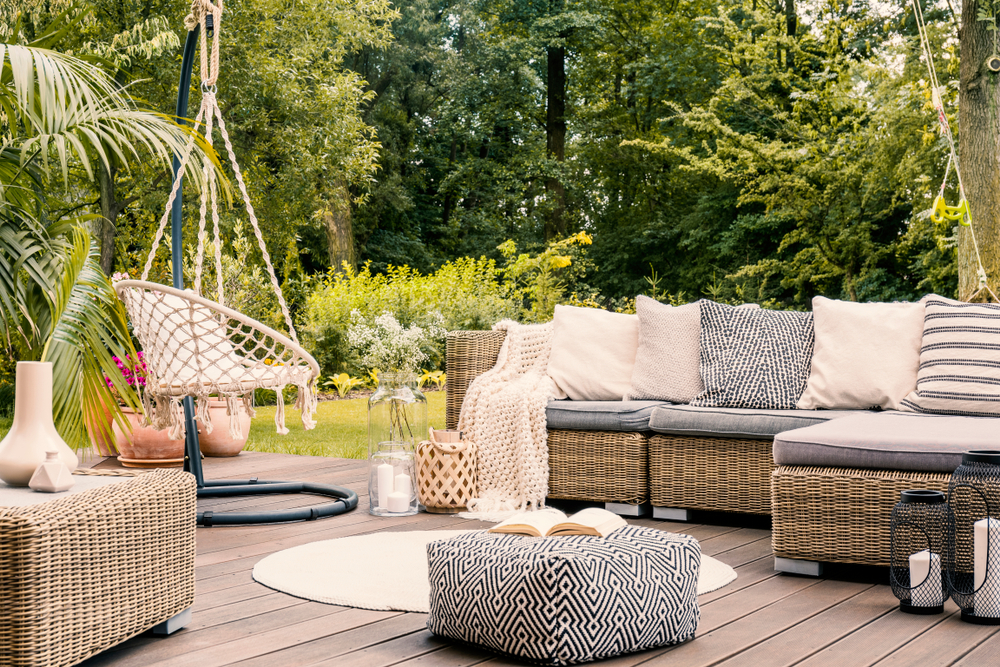 Sofà nel giardino divano giardino