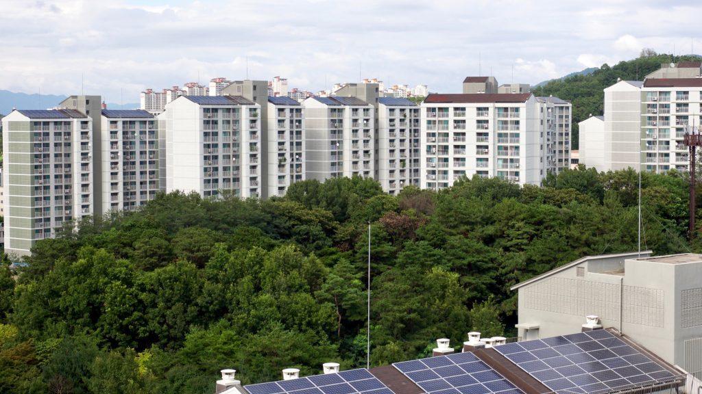 palazzi con tetto fotovoltaico