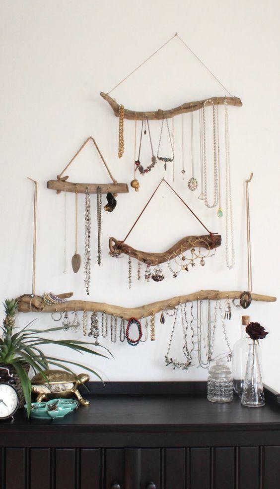 utilizzo di rami nella home decor