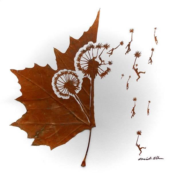 arte con foglie autunnali