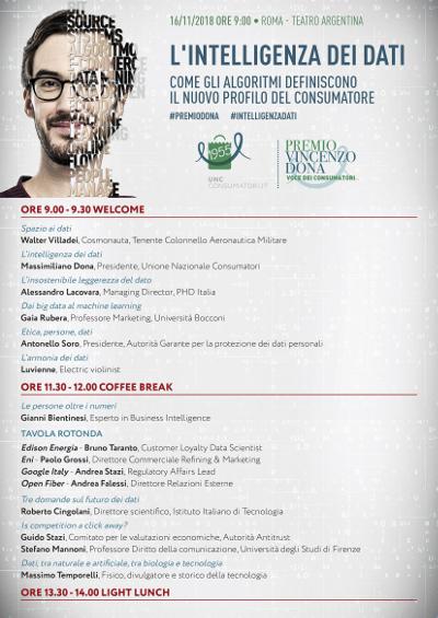 dettagli del programma premio dona 2018