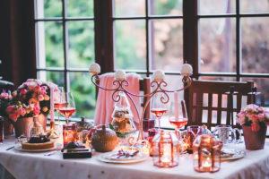La tavola della cena di Natale
