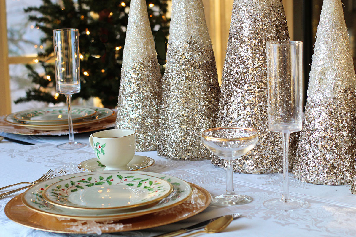 La tavola rococò a Natale