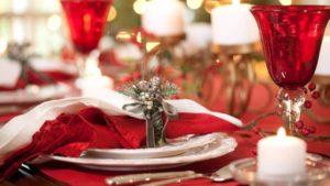 deecorare la tavola per le feste