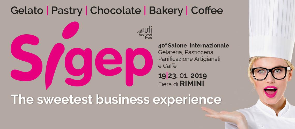 Dal 19 al 23 gennaio 2019 si svolgerà a Rimini la 40esima edizione della fiera Sigep, il salone internazionale per i settori gelateria, pasticceria, cioccolato caffè e panificazione.