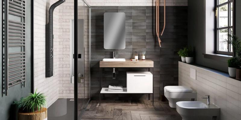 Arredare il bagno in stile urban eco for Leroy merlin parete vasca bagno