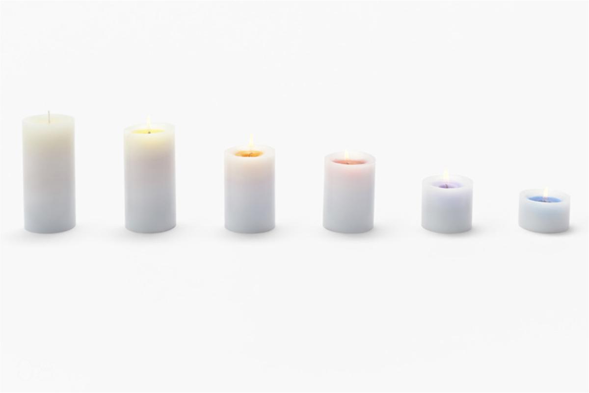 candele Sunset Candels, studio giapponese Nendo