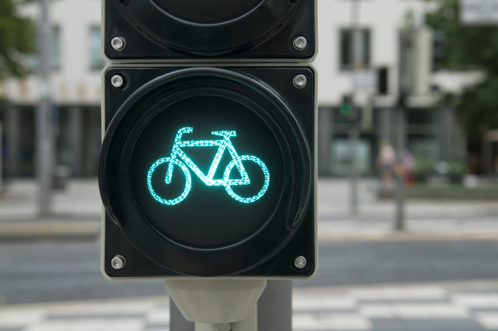 semaforo pista ciclabile habitante