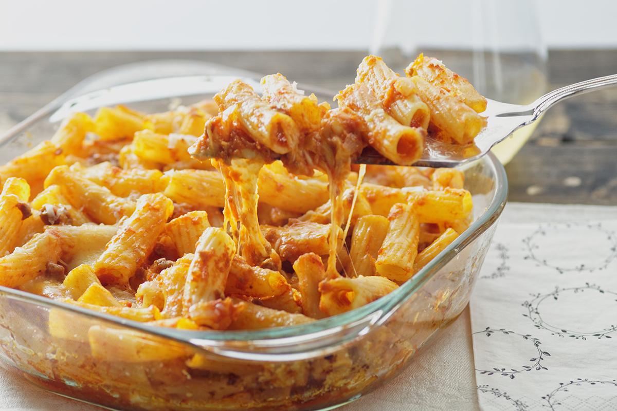 pasta al forno, primo piatto, pasta italiana