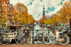 Amsterdam, bicicletta, canale