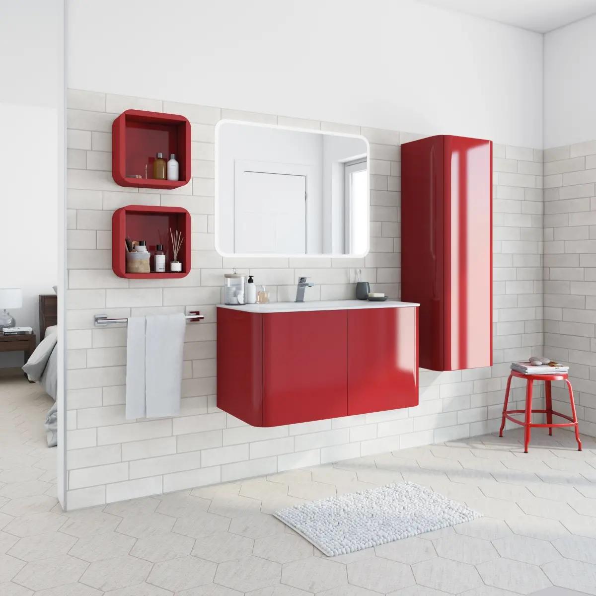Mobile bagno liverpool rosso leroy merlin habitante for Leroy merlin lavatoio con mobile