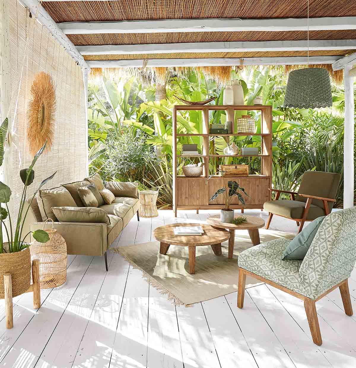 soggiorno living legno maisons du monde - Habitante