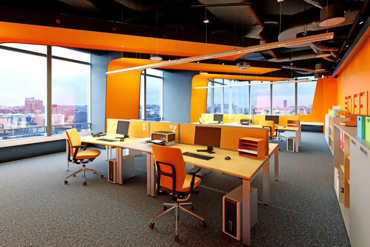 arancione nell'interior design