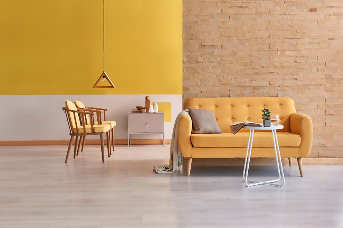 Colore giallo interior design