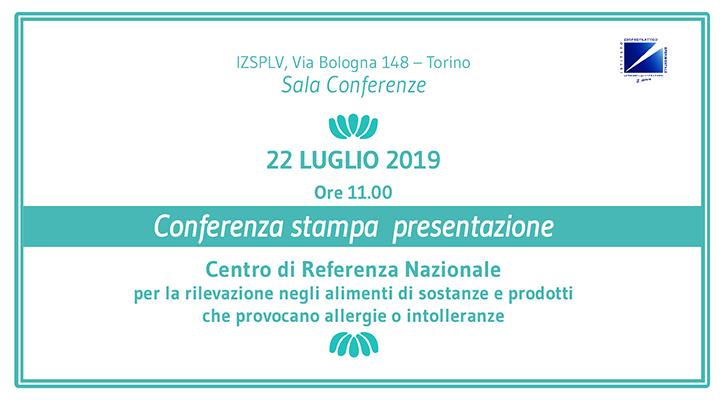 Presentazione del Centro di Referenza Nazionale per la rilevazione negli alimenti di sostanze e prodotti che provocano allergie o intolleranze