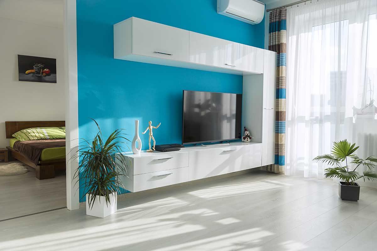 mobili sospesi in soggiorno