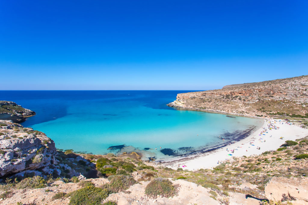 Spiaggia dei conigli a Lampedusa