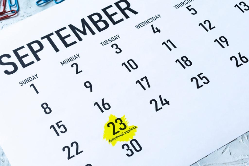 Equinozio di autunno 23 settembre 2019