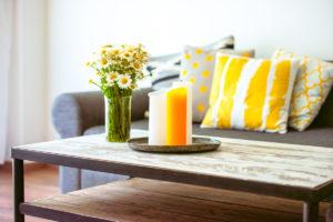 living, design e fiori