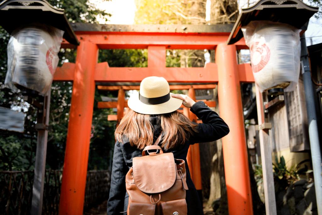 Torii Gate in Ueno Park, Tokyo