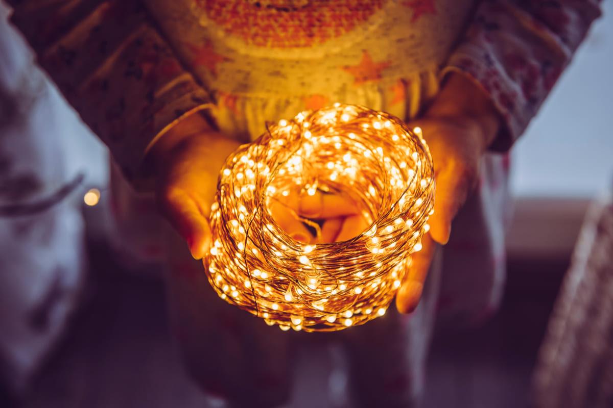 giusta illuminazione a Natale