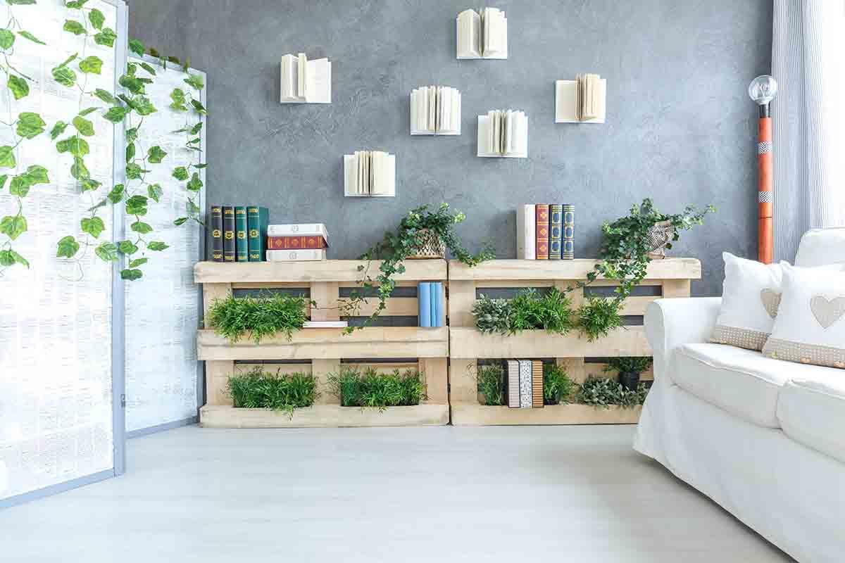 librerie e scaffali in stile shabby chic