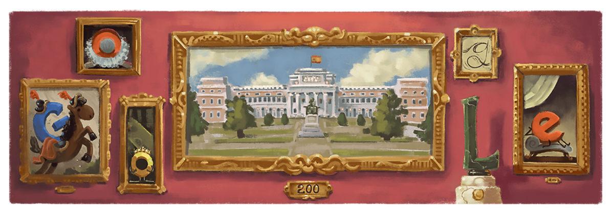 Doodle Google Prado 200 anni