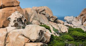 Rocce granitiche di Capo Testa a Santa Teresa di Gallura nelle coste della Sardegna
