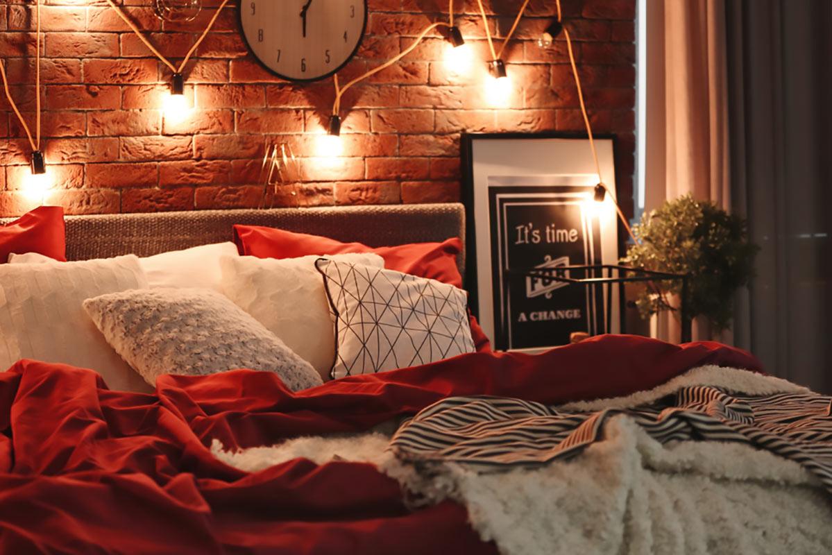 Luci illluminazione nella camera da letto