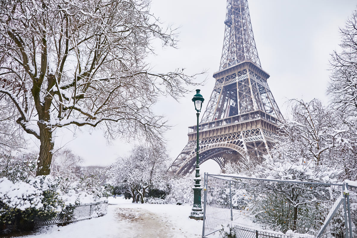 Parigi sotto la neve
