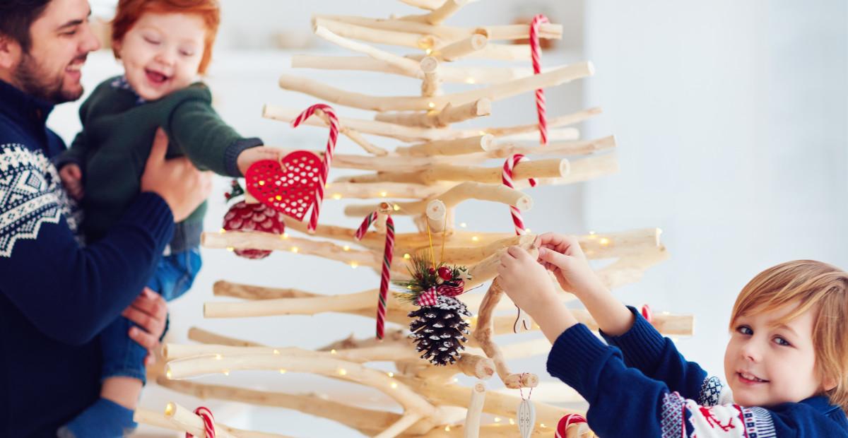 Pillole di interior design: tante idee per un albero di Natale fai da te