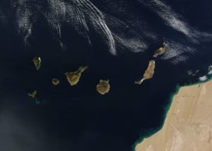 Isole Canarie viste da Satellite- Foto NASA in pubblico dominio
