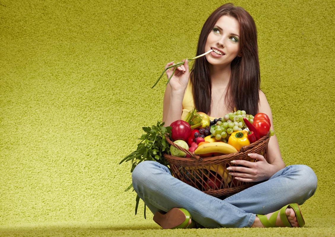 Frutta Verdura con ragazza
