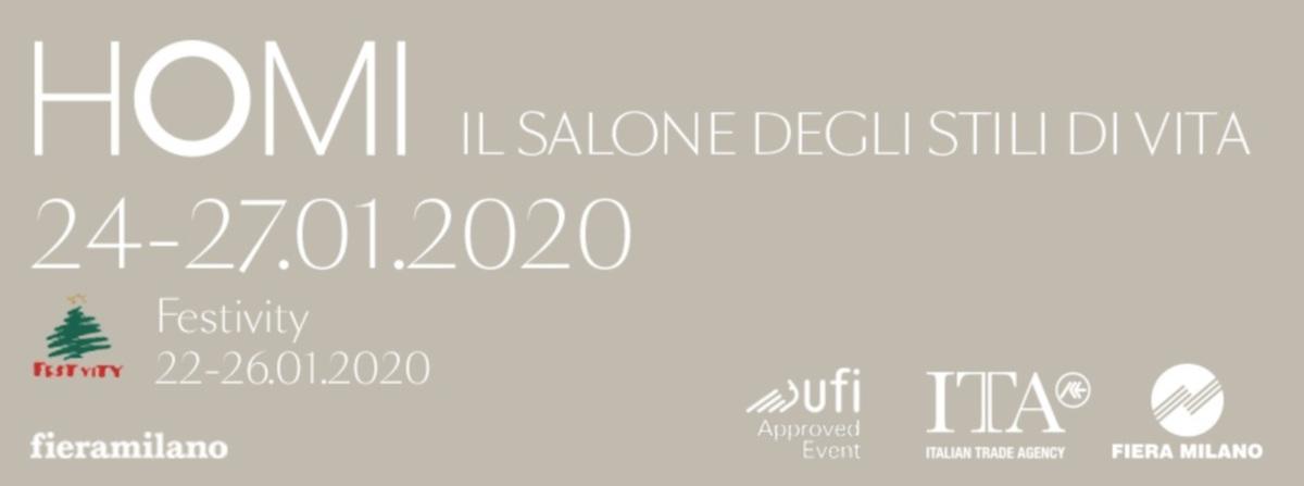 HOMI, il Salone degli stili di vita dal 24 al 27 gennaio 2020