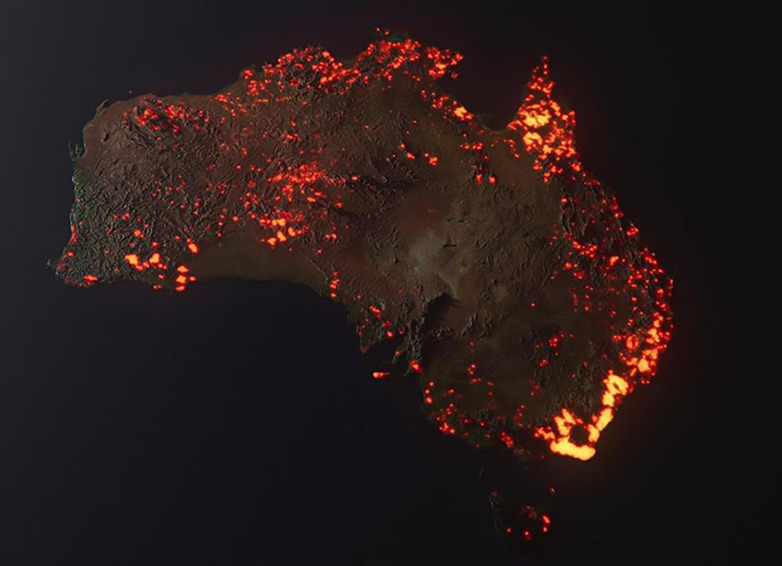 Australia in fiamme 3D