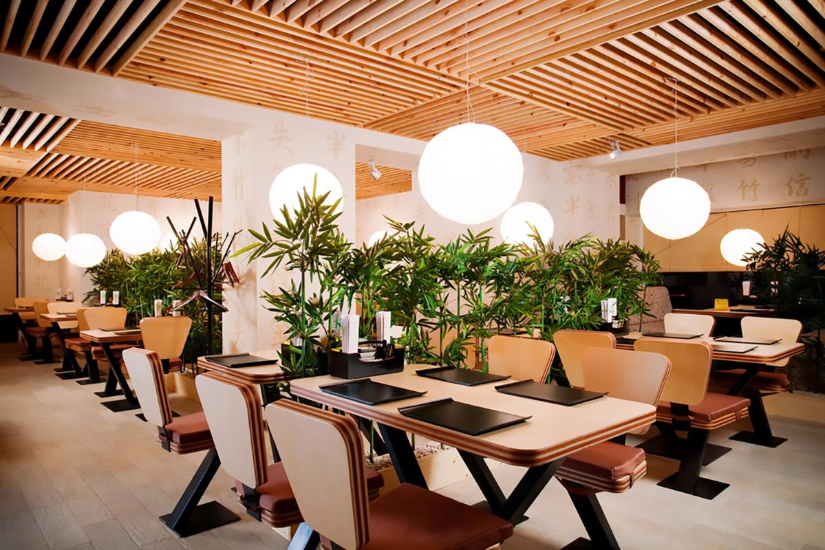 Interno ristorante asiatico