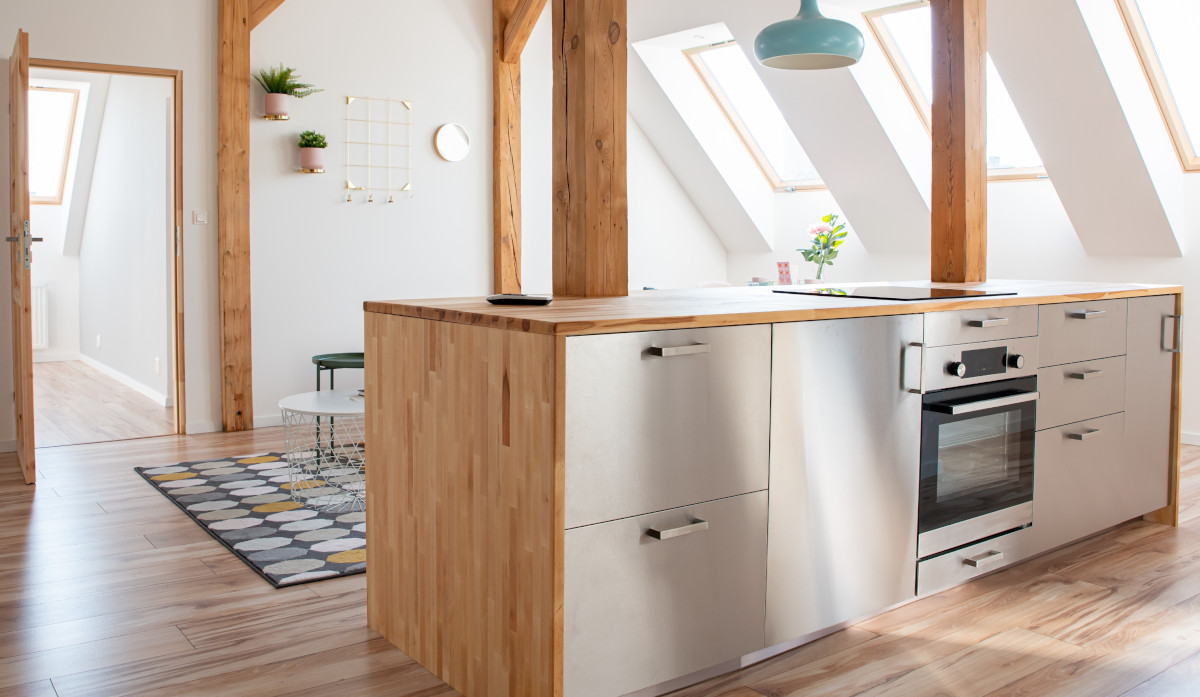 Progettare una cucina per una mansarda