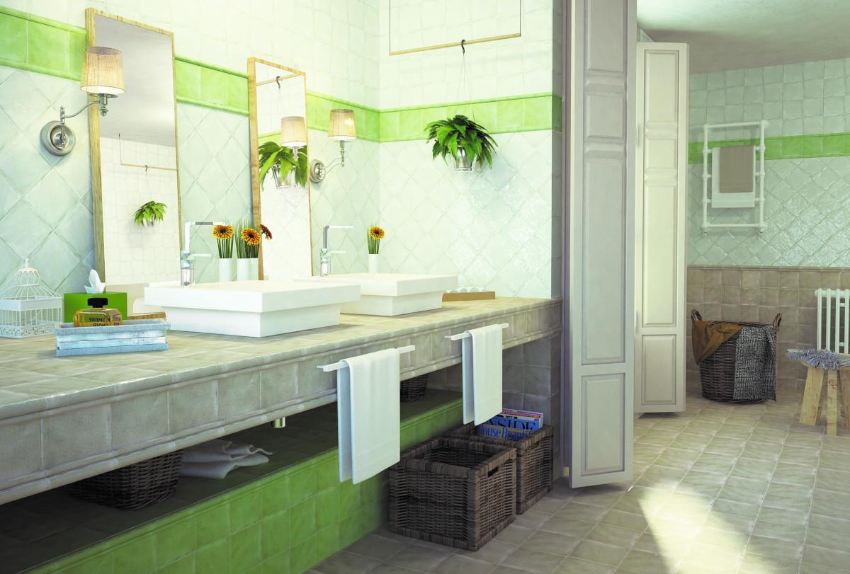 un bagno in verde
