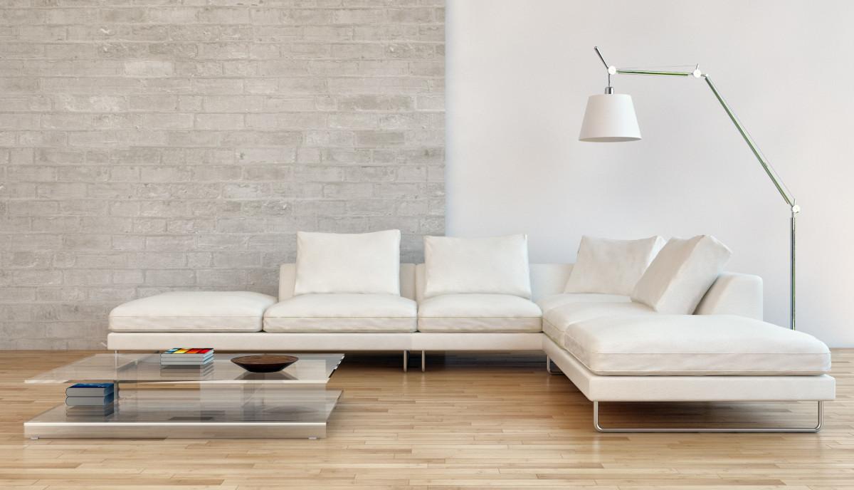 Il soggiorno in beige