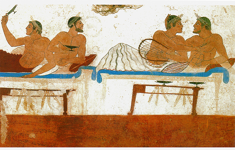 Paestum affesco tomba greca