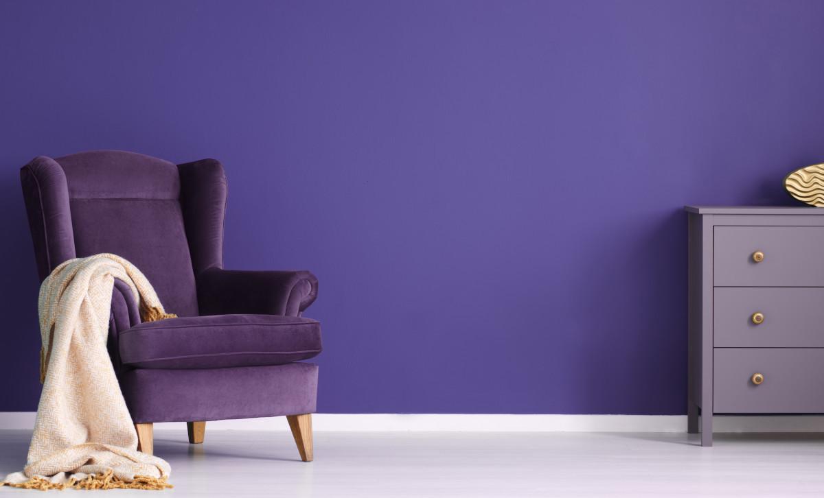 Il color ametista nell'interior design