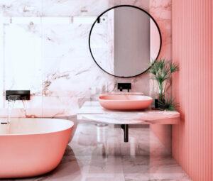 Pillole di interior design: il bagno in rosa