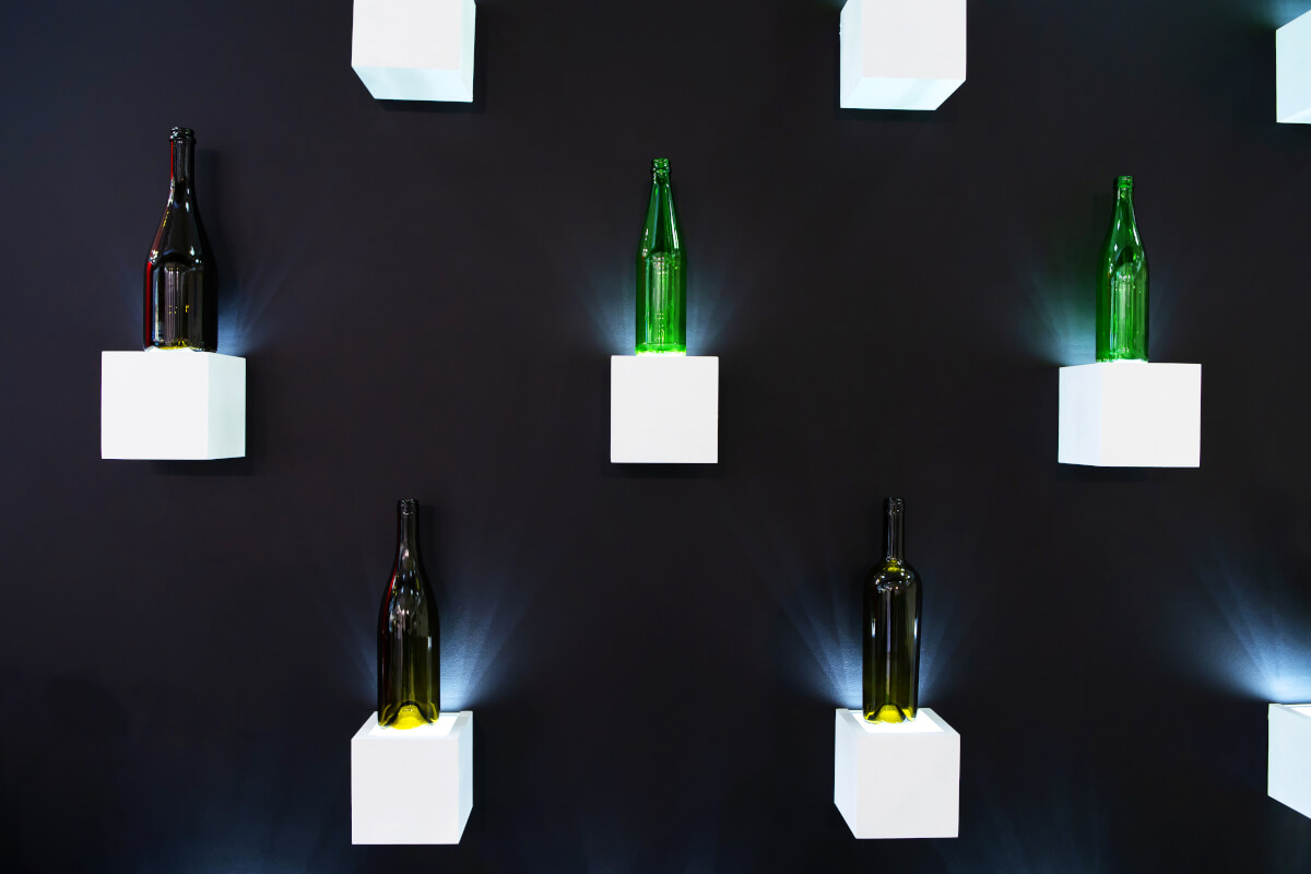 riciclare bottiglie di vino in vetro