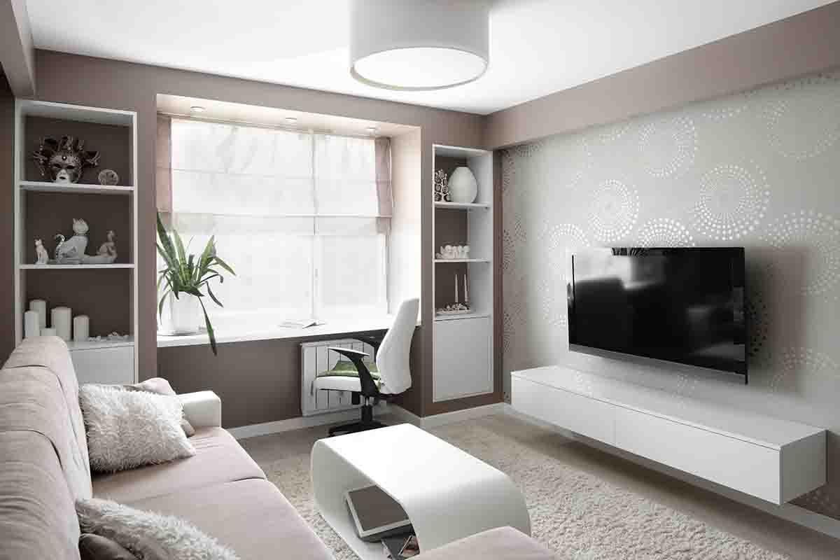 Arredare con i mobili del soggiorno sospesi