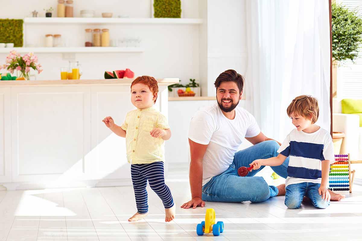 passare il tempo a casa con i bambini