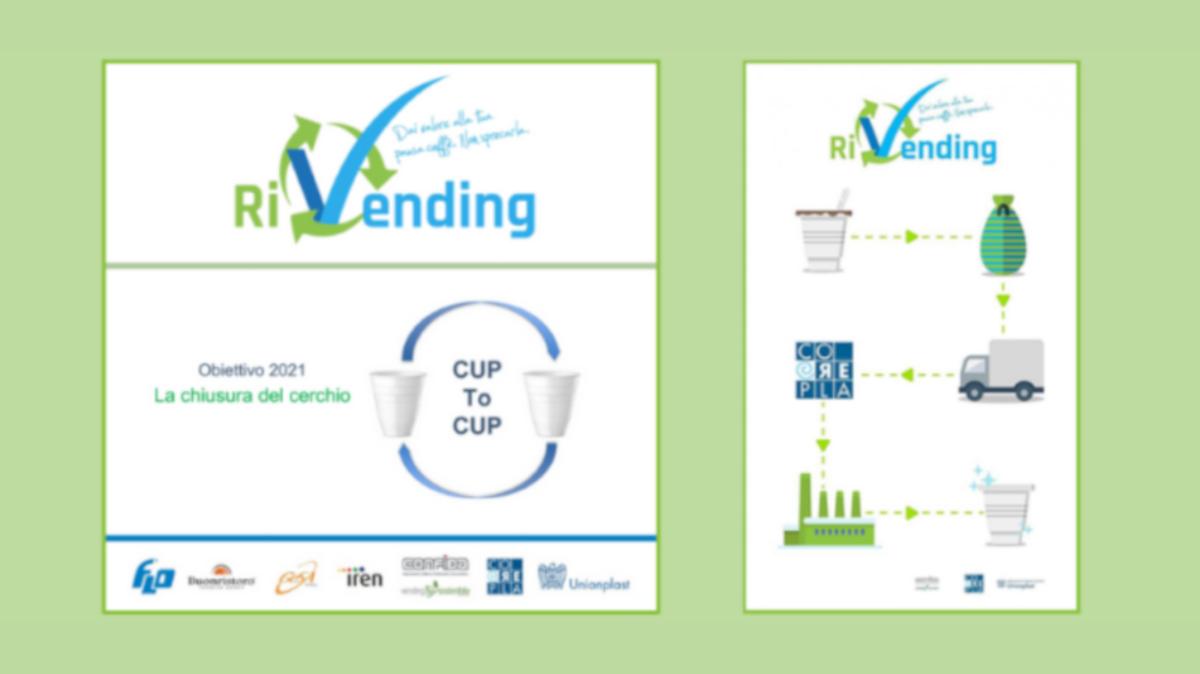 Prodotto il primo bicchiere CUP2CUP grazie al programmaRiVending