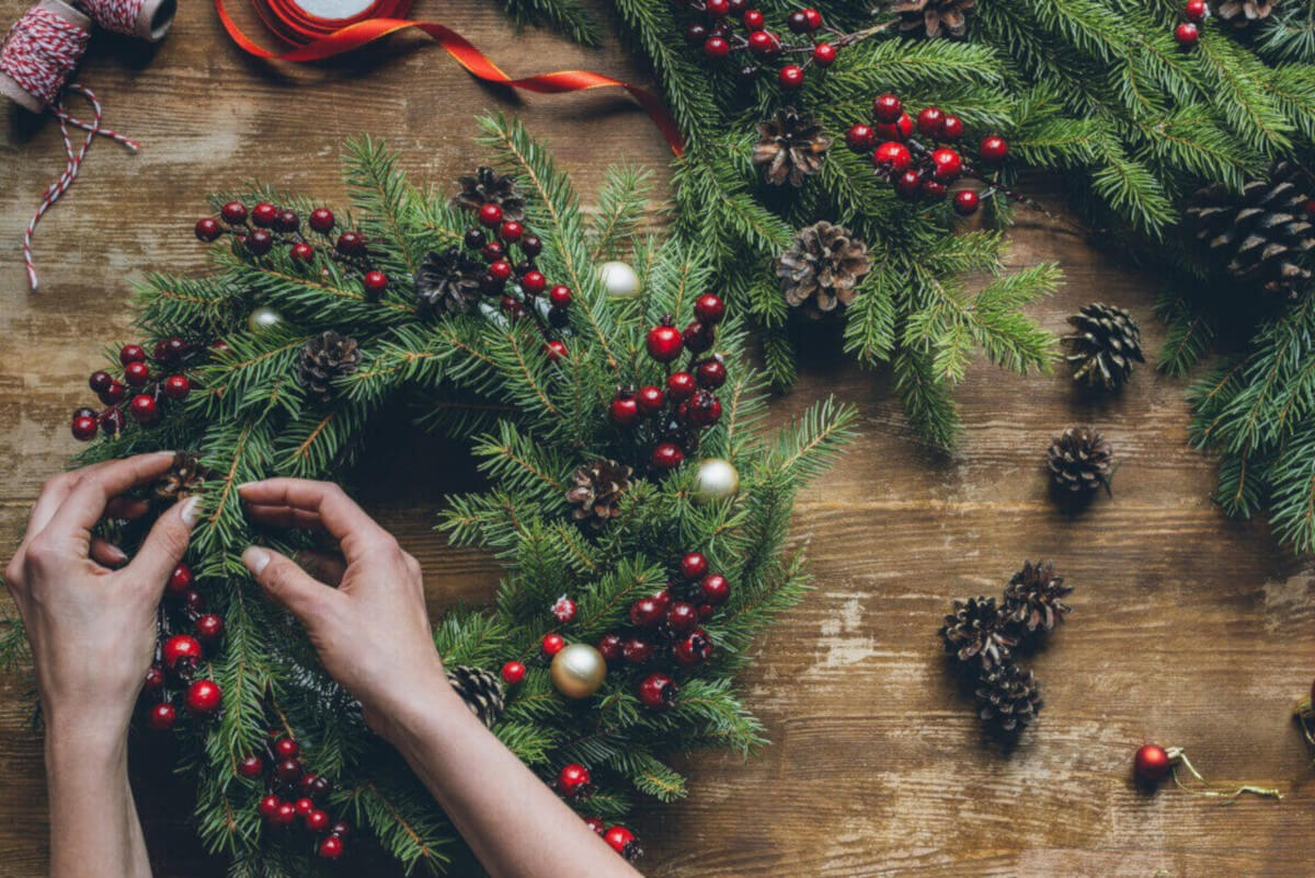 Ghirlande natalizie: tante idee fai da te